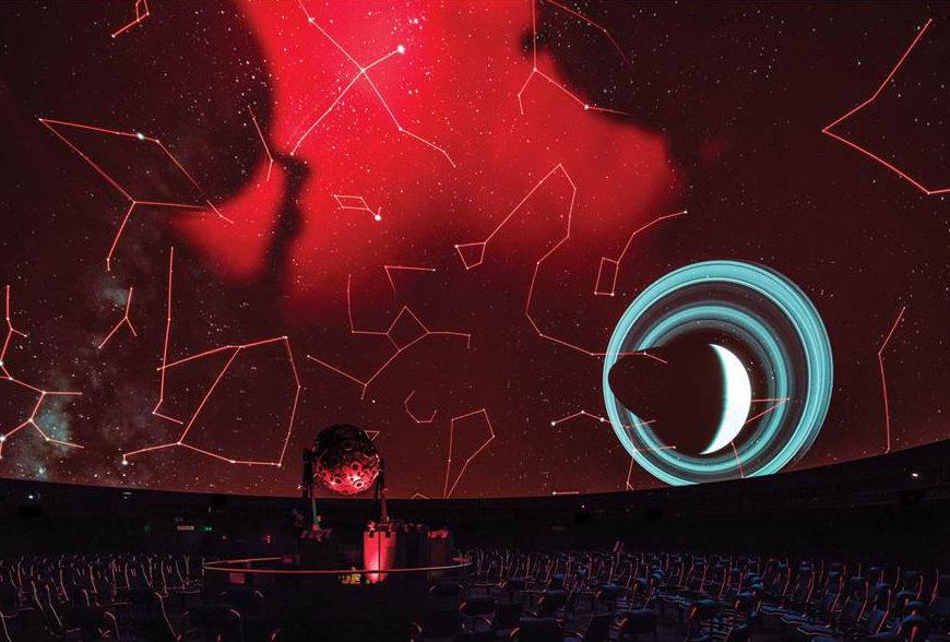 Planetarium Stuttgart Sternenhimmel mit Saturn/die arge lola. De nuevo en el Planetarium de Stuttgart